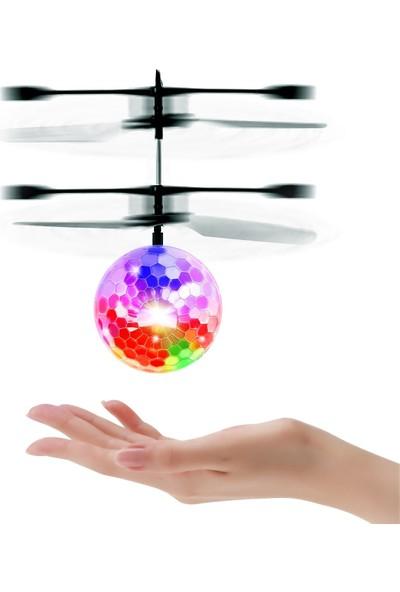 Jeel Uçan Işıklı El Topu Işıklı Kristal Drone Top Helikopter