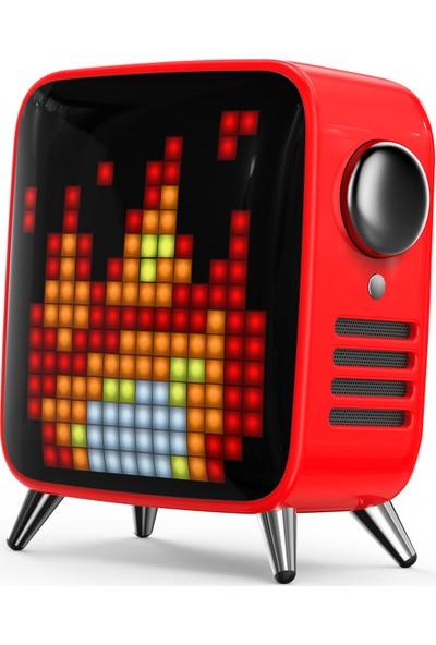 Divoom Tivoo Max Kırmızı Bluetooth Hoparlör