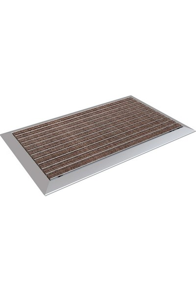 Arfen Halı Üst Yüzeyli Alüminyum Kahverengi Paspas 60 x 90 cm