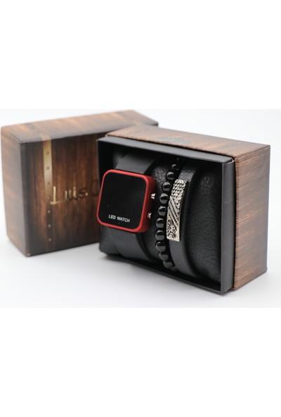 Led Watch LW01 Bileklik ve Erkek Kol Saati
