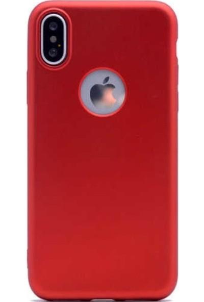 Lorexpress Apple iPhone XR Premium Rubber Mat Silikon Kılıf - Kırmızı