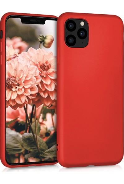 Lorexpress Apple iPhone 11 Pro Max Premium Rubber Mat Silikon Kılıf- Kırmızı