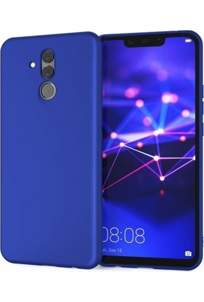 Lorexpress Huawei Mate 20 Lite Premium Rubber Mat Silikon Kılıf- Mavi