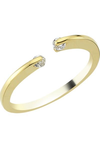 Mardeluz COL0887 Sonsuz&taş Altın Yüzük