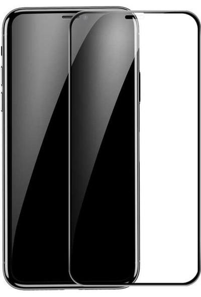 Teleplus Apple iPhone 11 Pro Max 5D Kenarı Kırılmaya Dayanıklı Tam Kapatan Cam Siyah