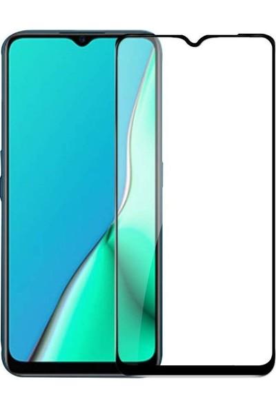 Teleplus Oppo A5 2020 Tam Kapatan Cam Ekran Koruyucu Siyah