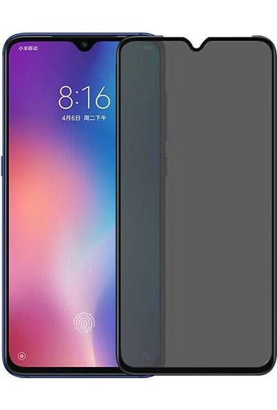 Teleplus Xiaomi Redmi Note 8 Tam Kapatan Privacy Hayalet Cam Ekran Koruyucu Siyah