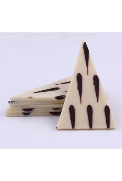 Barlo Chocolate Bitter Gözyaşi Beyaz Üçgen Çikolata
