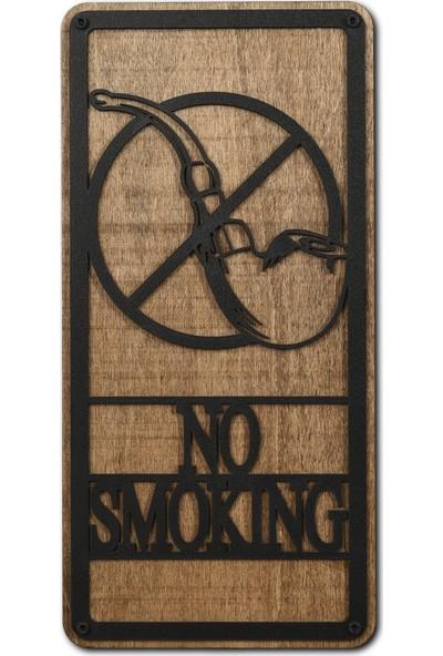 Madamvila No Smoking Sigara Içilmez Dekoratif Ahşap Duvar Tablosu