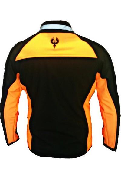 Anka Hp Softshell Su ve Rüzgar Geçirmez Mont Siyah/turuncu