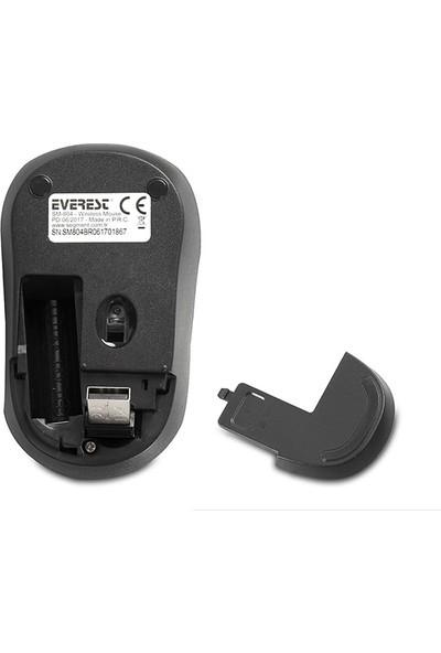 Everest Sm-804 Usb Siyah/Mavi 800/1200/1600Dpi Kablosuz Mouse