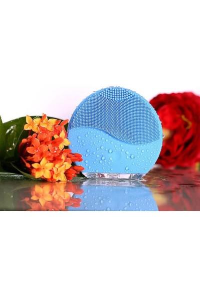 Yüz Temizleme Şarzlı Silikonlu Titreşimli Masaj Aleti Mavi