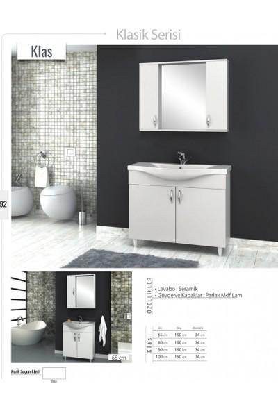 Samir Banyo Klas Banyo Dolabı 90 cm