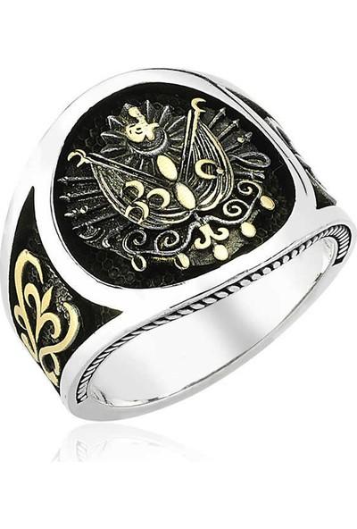 Osmanlı Devlet Armalı Erkek 925 Ayar Pirmoda Gümüş Yüzük