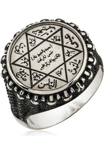 Süleyman Mührü Erkek 925 Ayar Pirmoda Gümüş Yüzük
