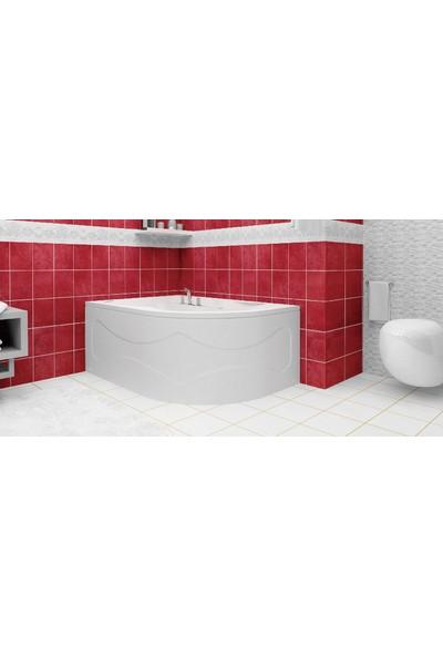 Ubm Banyo Asimetrik Oval Mini Küvet Sağ H:45 80 x 120 cm