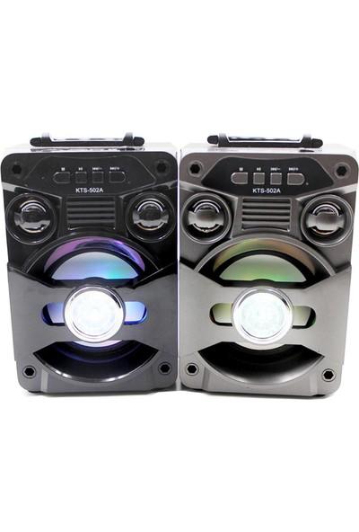 KTS-502A Radyolu Kablosuz Işıklı Bluetooth Speaker