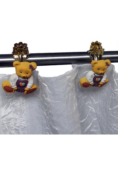 Perde Tokası Ayıcık 4'lü Paket Kız Çocuk Odası Perde Mandalı Gardınıa