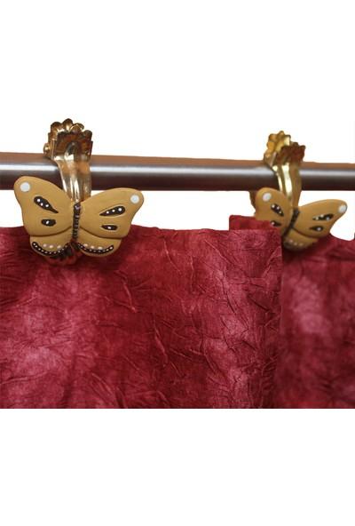 Gardinia Perde Tokası Kelebek 4'lü Dekoratif Perde Mandalı