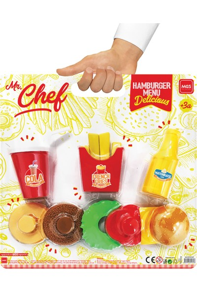 Mgs Oyuncak Mr. Chef Hamburger Menü Vakumlu - Kartela 3294