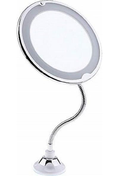 Mobee Flexible 10X Zoomlu Esnek Işıklı Makyaj Aynası