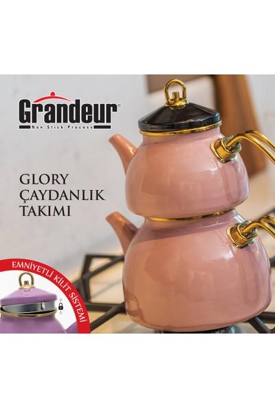 Grandeur Glory Emaye Çaydanlık Takımı - Siyah