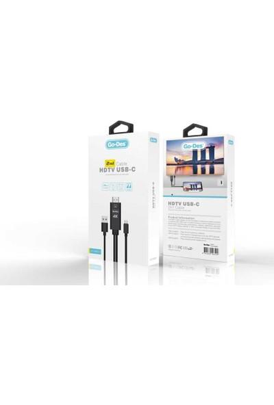 Go-Des GD-HM807 2in1 4K HDTV Kablo 1.8 mt