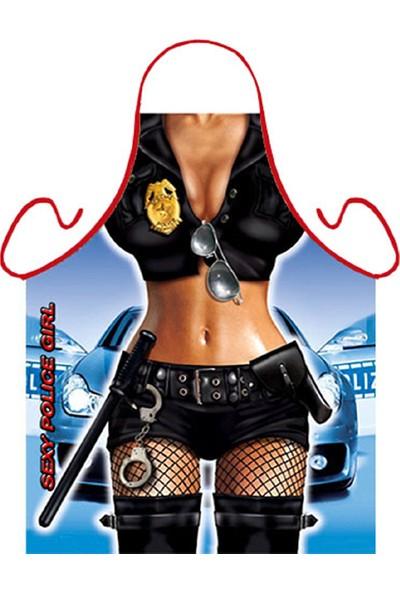 Probest Desing Police Girl Mutfak Önlüğü