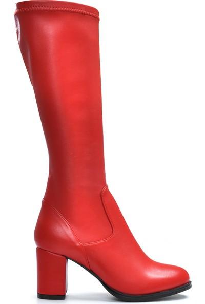 Vizon Kadın Kırmızı Çizme VZN19-135K