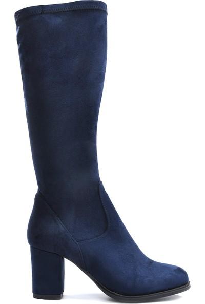 Vizon Kadın Lacivert-Süet Çizme VZN19-135K