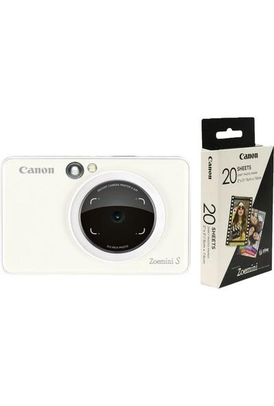 Canon Zoemini S - Inci Beyaz & 20'li Fotoğraf Kağıdı