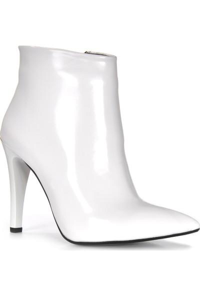 Vizon Kadın Beyaz-Rugan Bot VZN19-144K