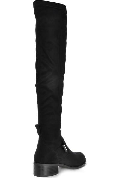 Vizon Kadın Siyah-Süet Çizme VZN19-152K
