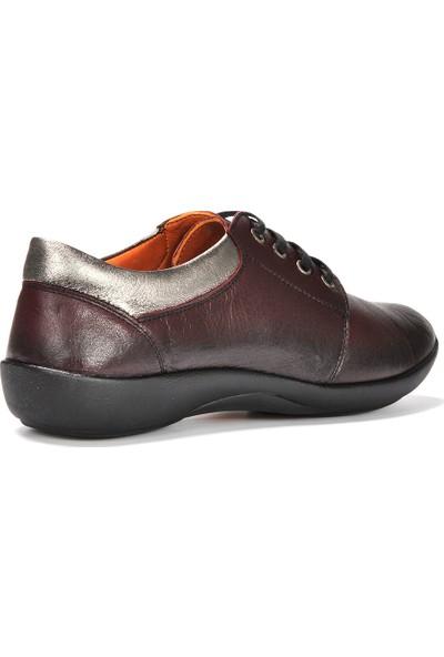 Vizon Kadın Bordo Günlük Ayakkabı VZN19-155K