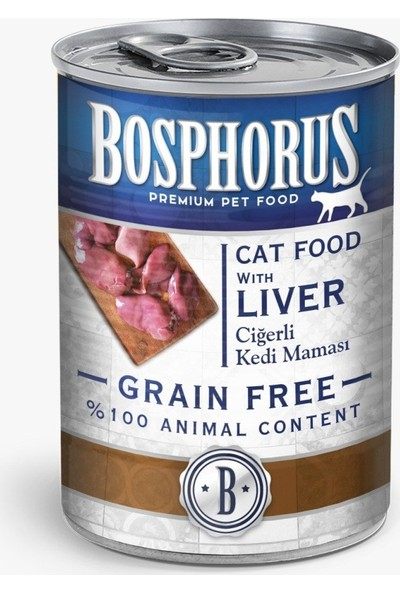 Bosphorus Tahılsız Ciğerli Kedi Maması - 12'li