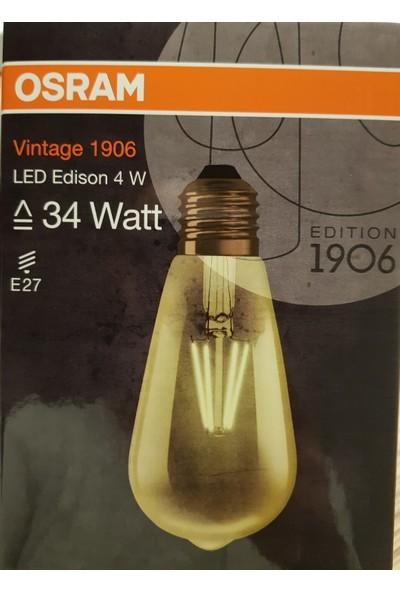 Osram 4W Vintage 1906 Led Edison Rustik Led Ampul