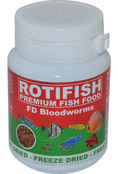 Rotifish Fd Bloodworms 100Ml (7Gr.) Kurutulmuş Kankurdu