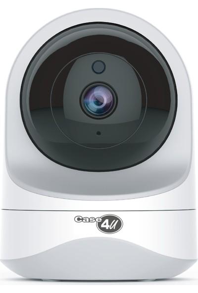 Case 4U Akıllı Güvenlik Kamerası 360 Derece Dönebilen Kızılötesi Gece Görüşlü IP Kamera HD 1080p - 637JBU
