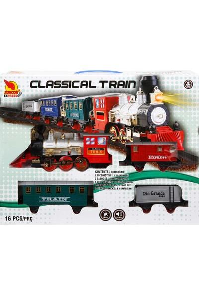 Sunman Sesli ve Işıklı Klasik Tren Seti - 16 Parça