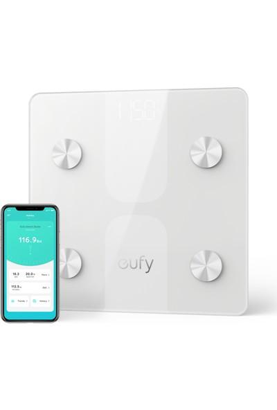 Anker Eufy Akıllı Bluetooth Tartı Dijital Baskül - Yağ Ölçer - Vücut Analizi - BMI - Beyaz - T9146