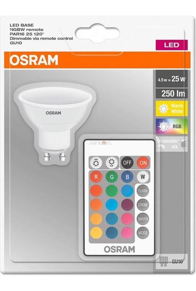 Osram LED Uzaktan Kumandalı Renk Değiştiren Rgb 4,5 W 250 Lm GU10 Ampul