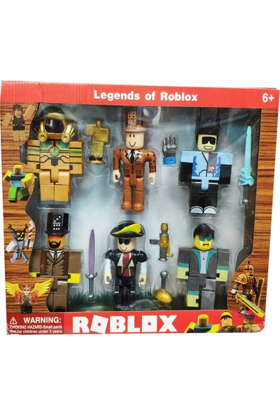 E-Kids Roblox Oyuncak 6 Figür 13 Parça XL Büyük Boy Oyun Seti