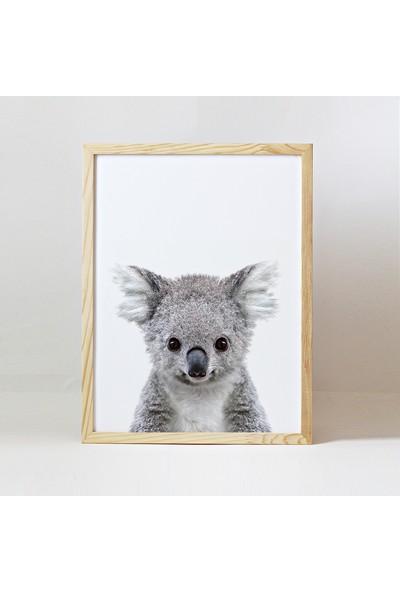 Minik Ayı Baby Animals Ahşap Çerçeve - Yavru Koala