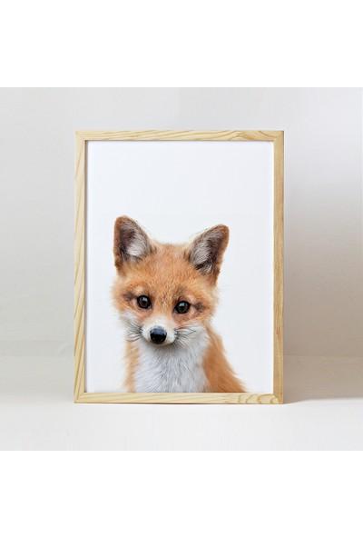 Minik Ayı Baby Animals Ahşap Çerçeve - Yavru Tilki