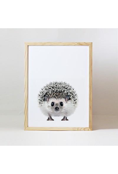 Minik Ayı Baby Animals Ahşap Çerçeve - Yavru Kirpi