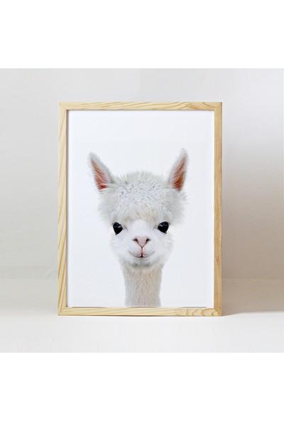 Minik Ayı Baby Animals Ahşap Çerçeve - Yavru Lama
