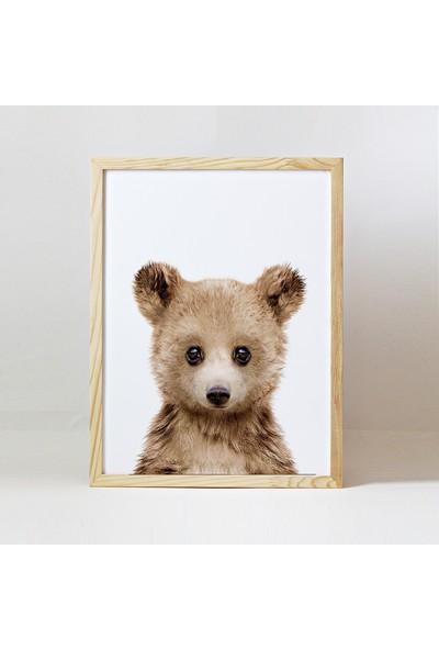Minik Ayı Baby Animals Ahşap Çerçeve - Yavru Ayı