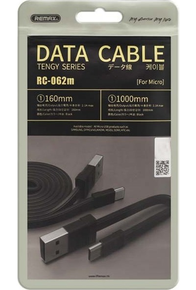 Remax RC-062M 2in1 Micro USB Data ve Şarj Kablosu - Siyah