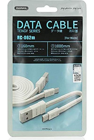 Remax RC-062M 2in1 Micro USB Data ve Şarj Kablosu - Beyaz