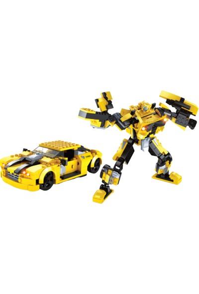 Furkan Toys F-Blocks Heroes Serisi Dönüşebilen Robot Araba Blok Oyuncak - 244 Parça
